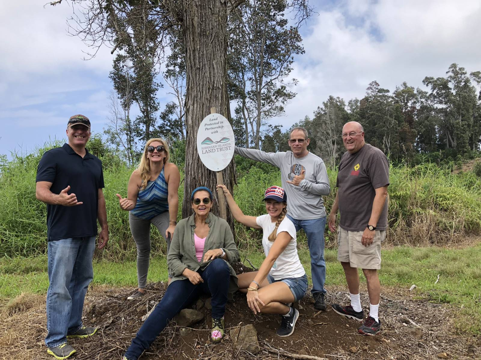 HILT staff and board members at Honolulu Coffee Company farm