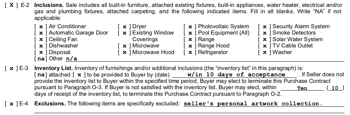 Furnishings And Inventory In Hawaii Real Estate Sales