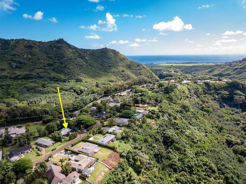 Aerial view of Wailua House