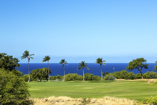 View from Mauna Kea HIgh Bluffs lot for sale