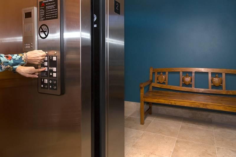 keyed private elevator at Kolea