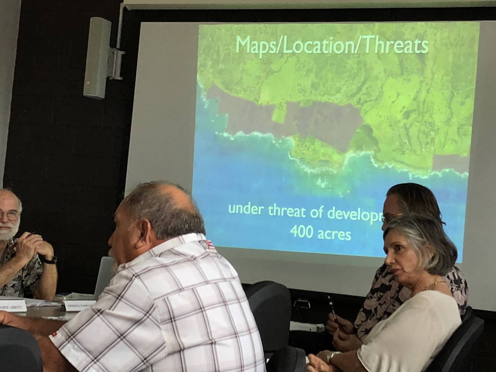 Save the Hana Coast members present at State Legacy Land Commission