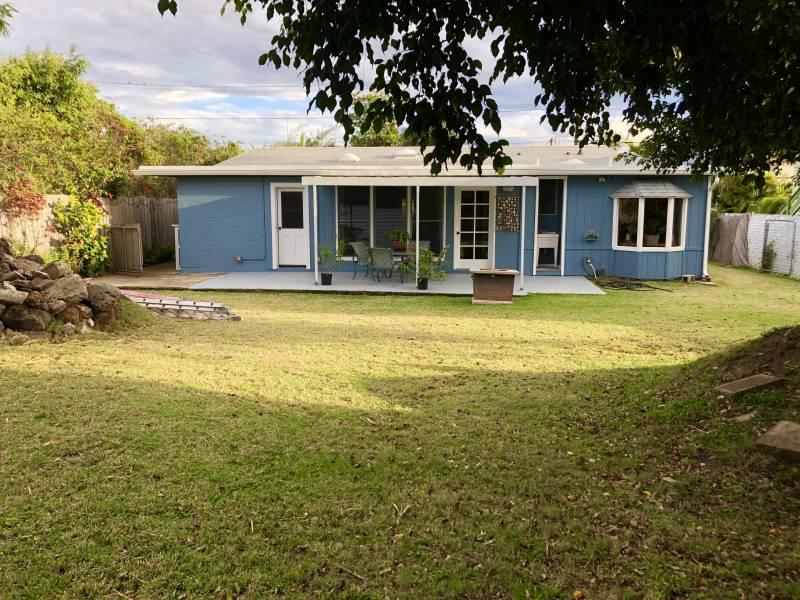 Backyard of 238 Hualani