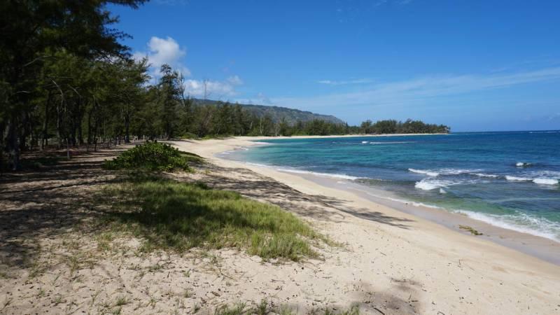 Beach at Mokuleia near Dillingham Ranch Haleiwa