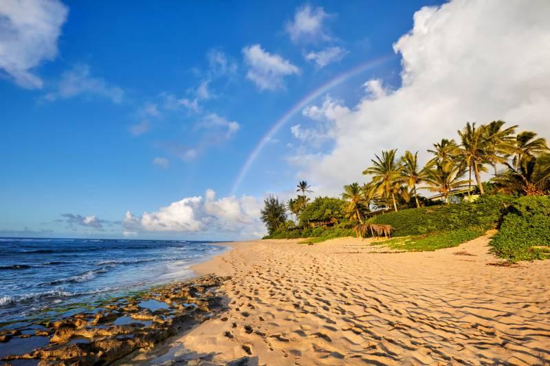 rainbow over Oahu, Hawaii