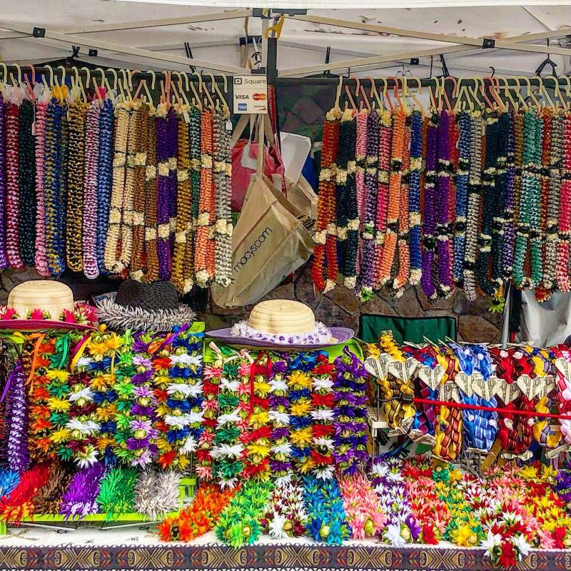 Huge selection of leis for May Day