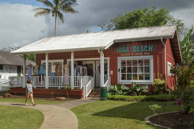 Hula Beach Boutique and Sarong shop in Hanalei