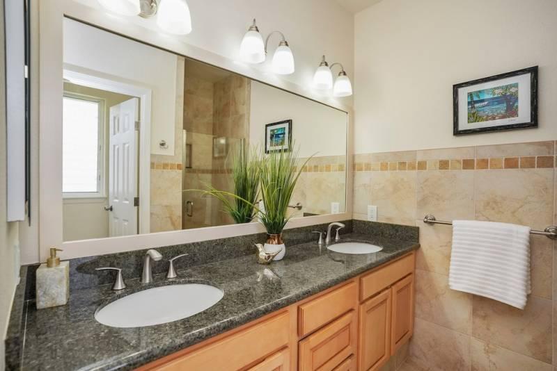 Master Bathroom at Villas at Puali