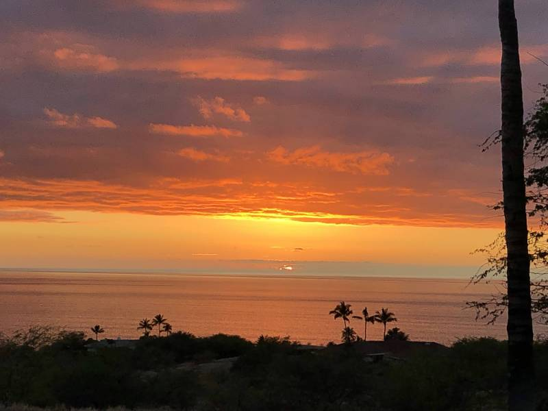 North Kohala coast sunset ocean views