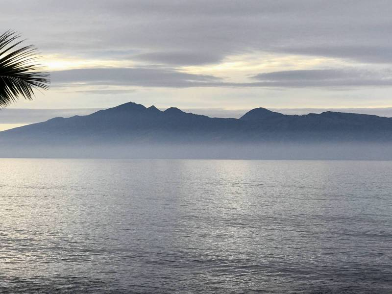misty mountains ocean