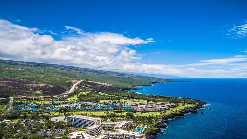 Aerial of Kailua Kona