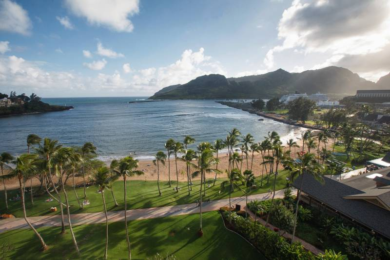 Tropical Resort View in Lihue, Kauai