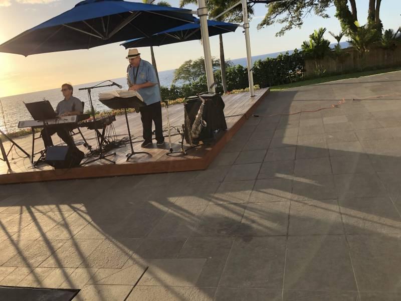 Jazz duo performs at Hapuna Beach Villa