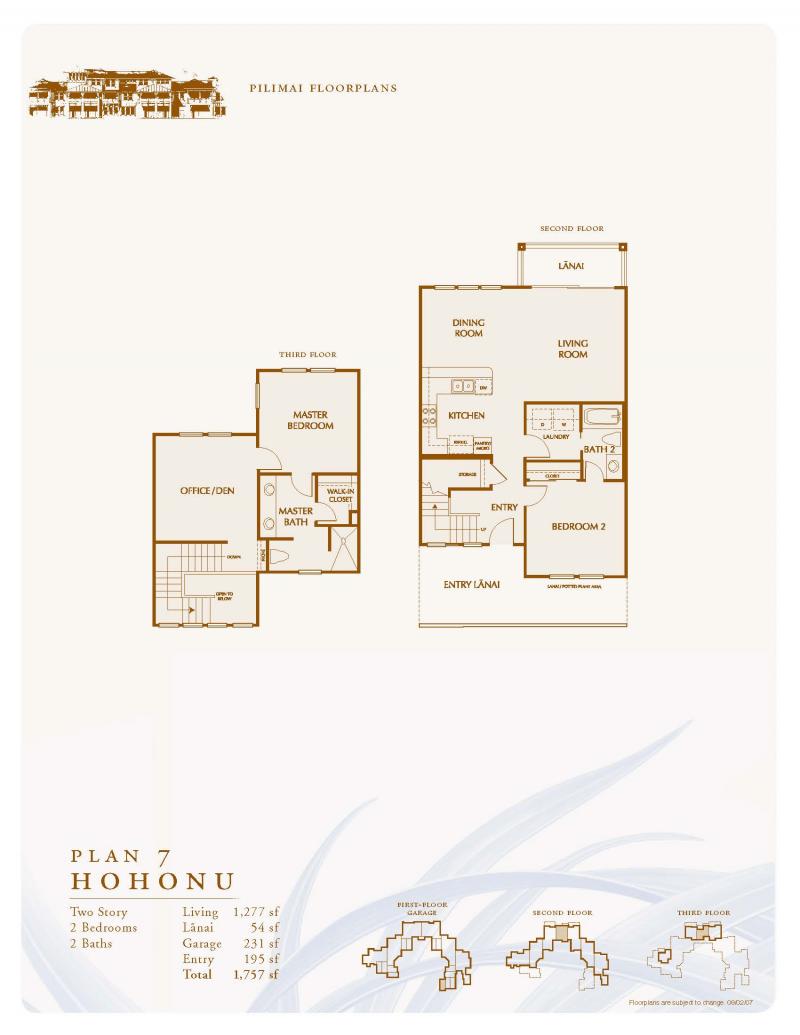 Hohonu Floorplan - Pili Mai