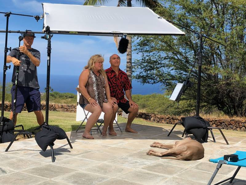 Filming Hawaii Life TV show