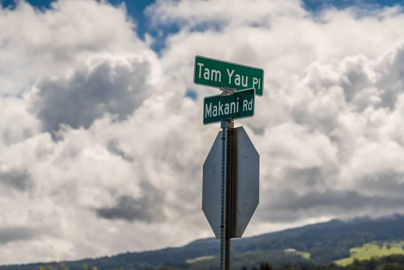 Kua'aina Mauka Street Sign