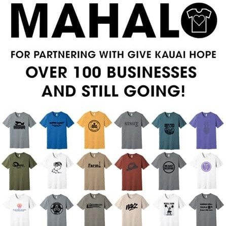 Give Kauai Hope T-Shirts