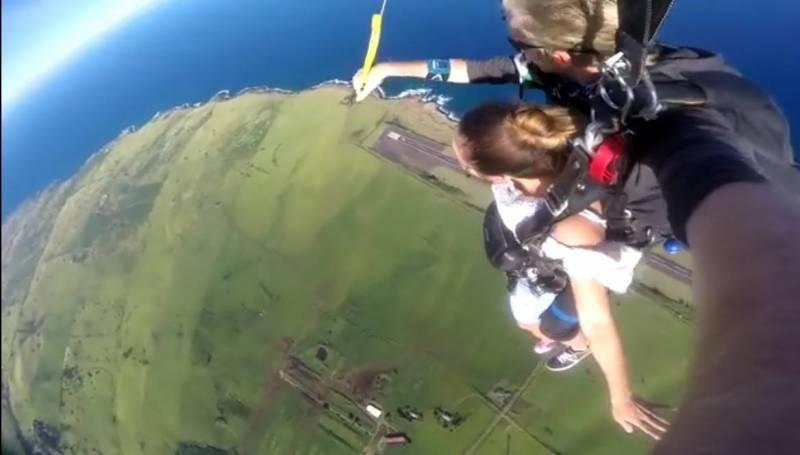 Skydiving over North Kohala