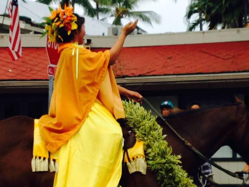 Paʻu rider in parade