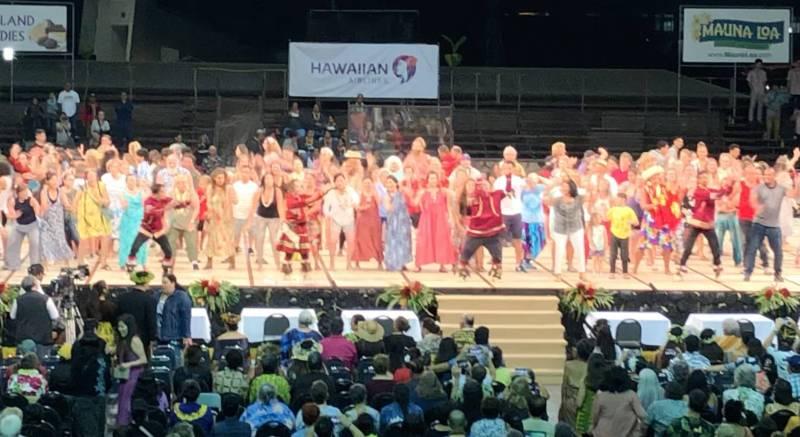 Hoʻike night at Merrie Monarch