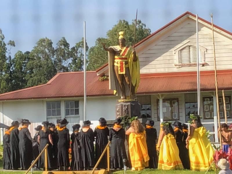 Kamehameha Day at Kohala Statue