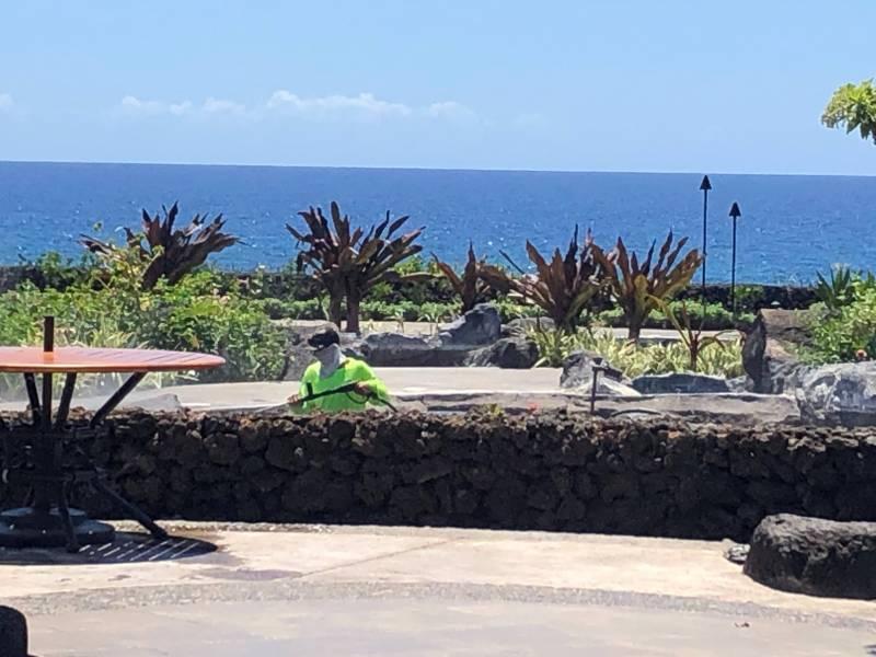 Resurfacing pool at Halii Kai Ocean Club