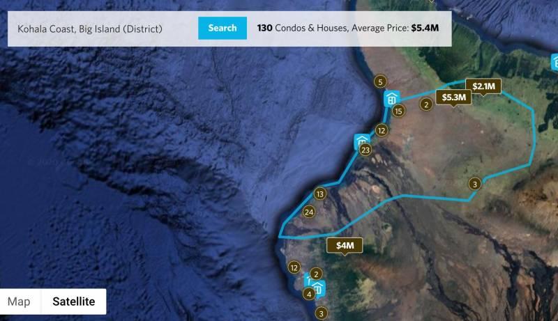 Kohala Coast resort listings