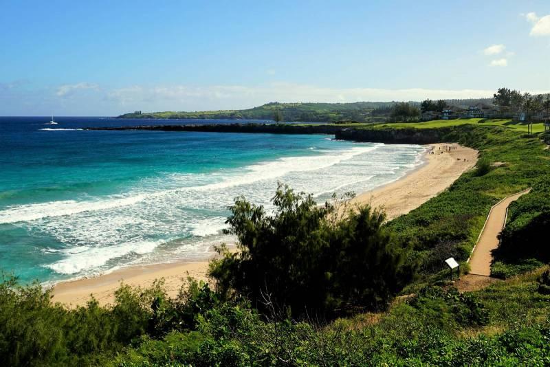 Ocean Boardwalk and trail fronting Kapalua Bay Villas