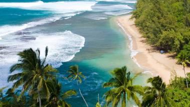 aerial kauai beach