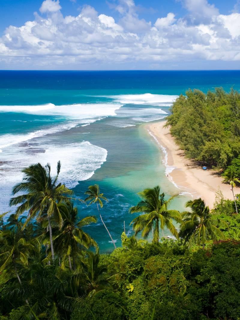 Kauai has beautiful and pristine beaches.