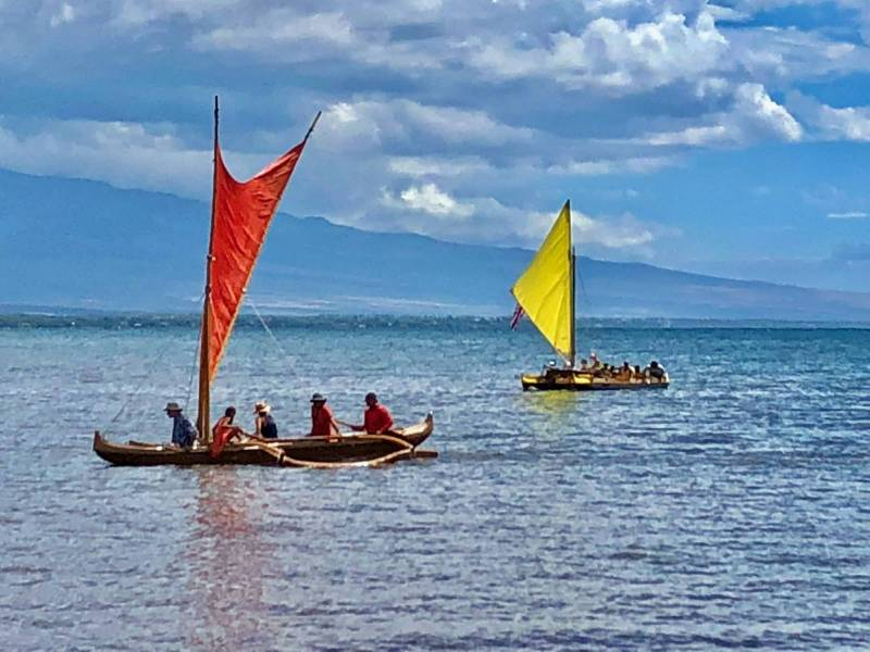 canoe at Kawaihae