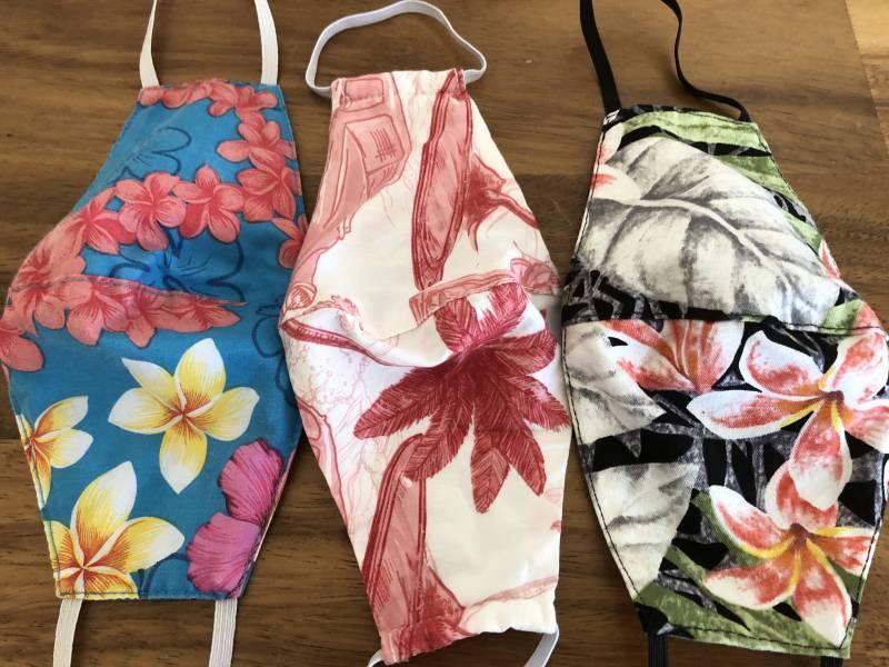 Hawaiian print masks