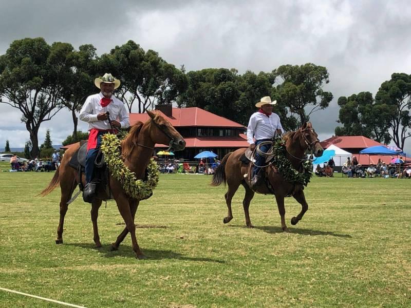 Riders at Old Hawaii on Horseback at Waikii Ranch