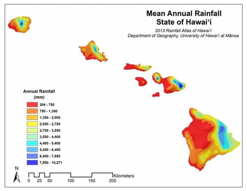 Annual Rainfall Hawaii