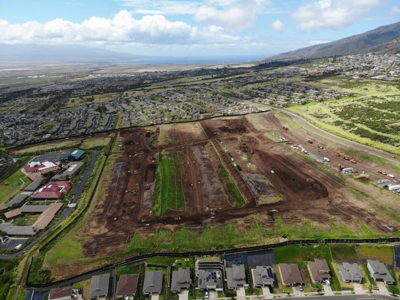 aerial view of site of Anuhea is Kehalani new home development on maui