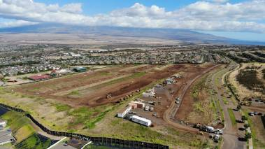 aerial view of Anuhea is Kehalani new development on maui