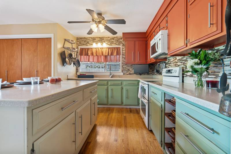 kitchen staged for real estate listing photo