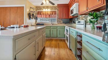 clean, staged kitchen ready for sale