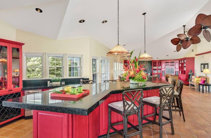 Ohia Park Estates kitchen and living room
