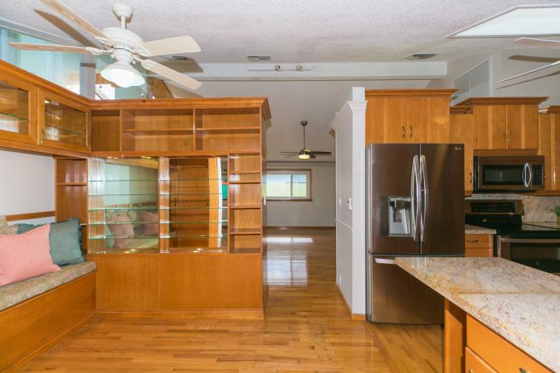 kitchen and built in storage oahu home
