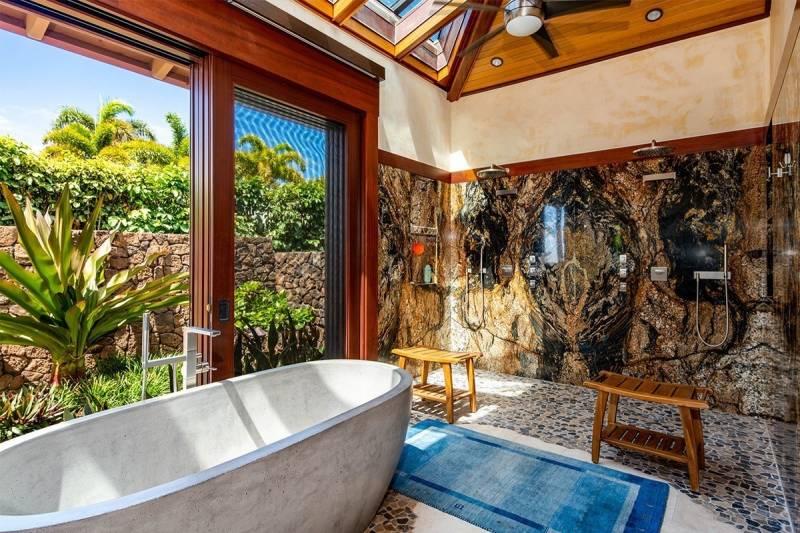 master bathroom in puako big island