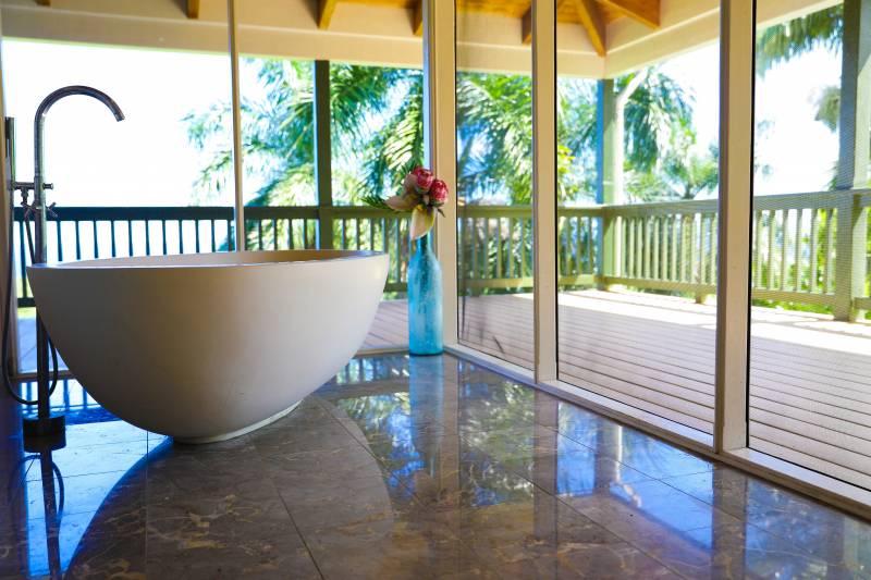 luxury master bathroom hana maui estate