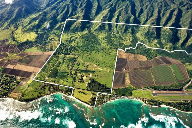 Dillingham Ranch aerial outlined