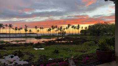 sunset at Kōlea Kai big island gated community