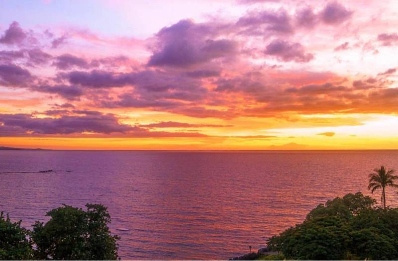 sunset at mauna kea resort kohala coast