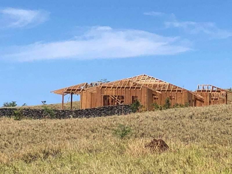 Home under construction at Kohala Ranch