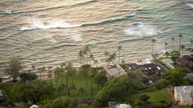aerial view of oahu hawaii
