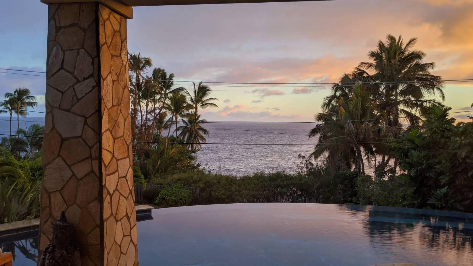 ocean view from pool on oahu