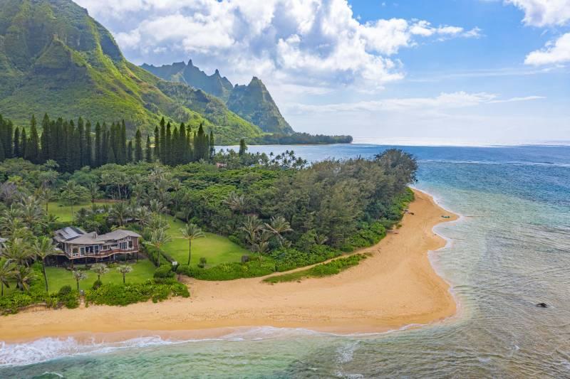 Haena Beachfront home north shore kauai