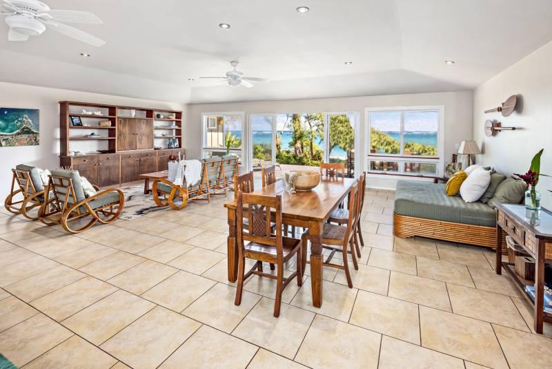 living room with ocean views on oahu